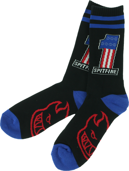 Sf #1 Crew Socks Black 1 Pair