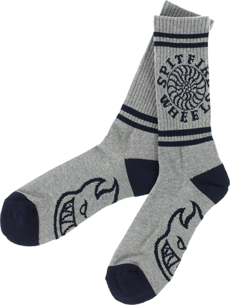 Sf Og Classic Crew Socks Heather/Navy1 Pair