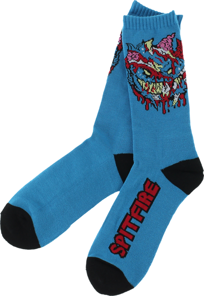 Sf Zombie Apocalypse Crew Socks Blue 1 Pair