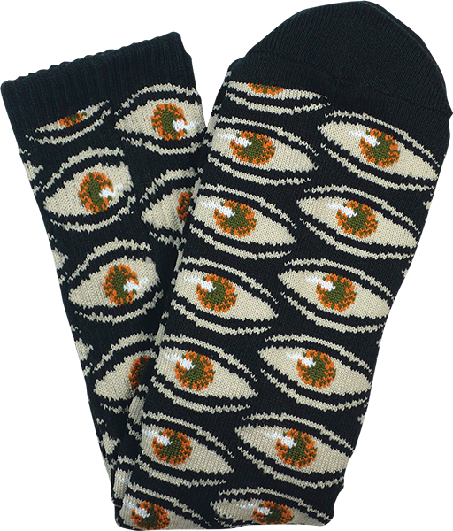 Tm Eye Everywhere Crew Socks Blk 1Pr