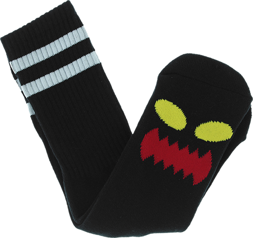 Tm Monster Face Crew Socks Black 1Pr