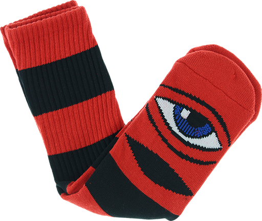 Tm Monster Big Stripe Crew Socks Red 1Pr