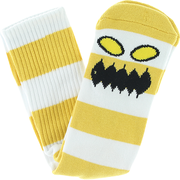 Tm Monster Big Stripe Crew Socks Mustard 1Pr