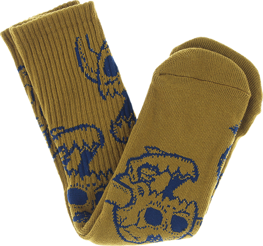 Tm Monster Skull Crew Socks Olive 1Pr