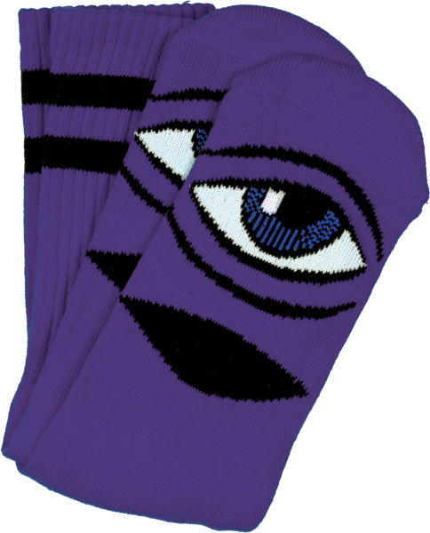 Tm Sect Eye Iii Crew Socks-Purple 1 Pair