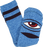 Tm Sect Eye Heather Crew Socks-Blue 1Pr