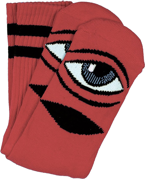 Tm Sect Eye Crew Socks Clay 1Pr