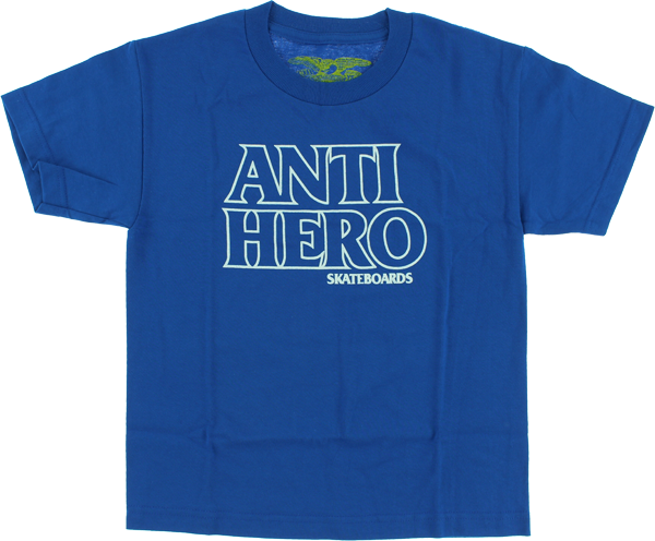 Ah Outline Hero Yth Ss M-Royal/Wht