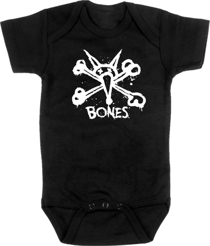 Bones Vato Stacked Onesie Black