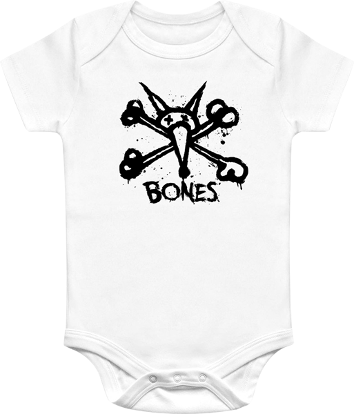 Bones Vato Stacked Onesie White