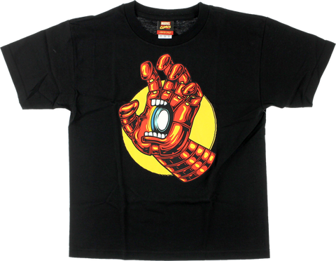 Sc Marvel Iron Man Hand Yth Ss Xl-Black