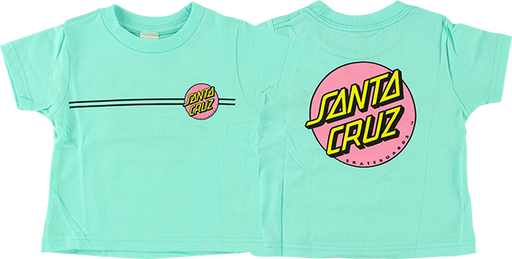 Sc Other Dot Toddler Tee 7-Chill Teal/Pink