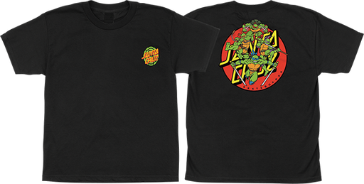 Sc Tmnt Turtle Power Yth Ss M-Black