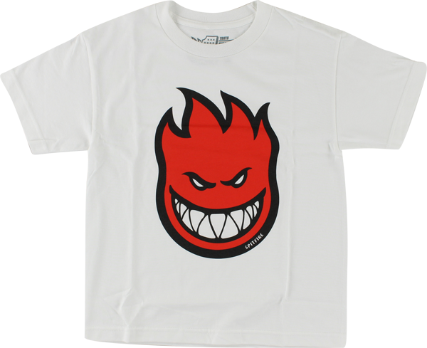 Sf Bighead Fill Yth-Ss M-Wht/Red