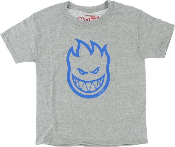 Sf Bighead Yth-Ss L-Heather Grey/Blu