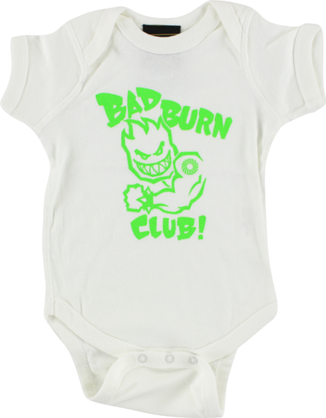 Sf Bad Burn Club Baby Ss 18M-White