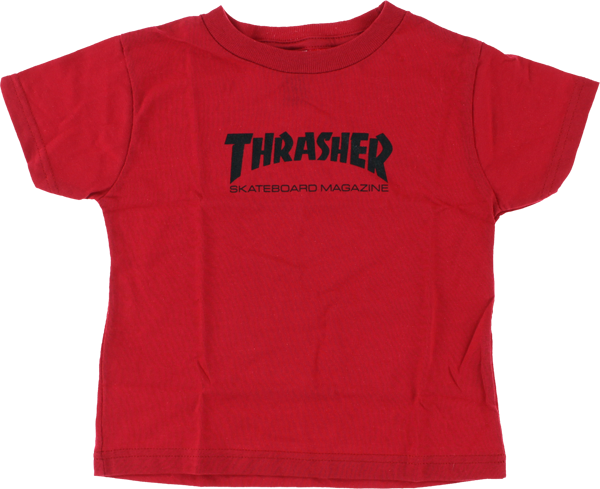 Thrasher Mag Logo Toddler Ss 4T Red/Blk