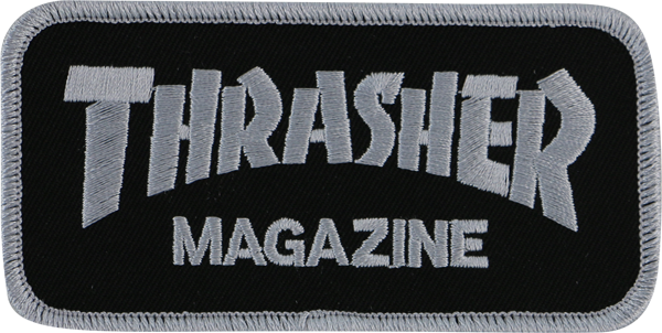 Thrasher Mag Logo Patch Blk/Sil