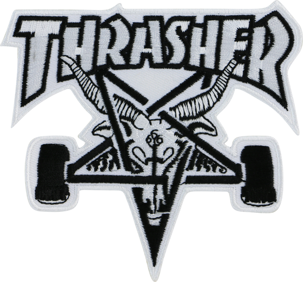 Thrasher Sk8-Goat Patch Wht/Blk