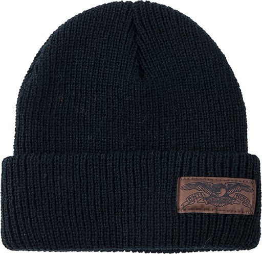 Ah Basic Eagle Label Cuff Beanie Blk/Brn