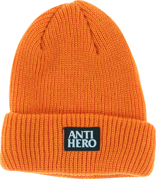 Ah Black Hero Cuff Beanie Orange