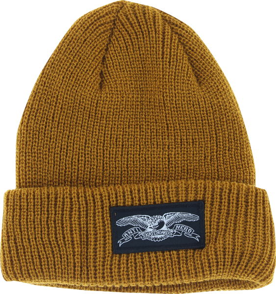 Ah Eagle Cuff Beanie Brown