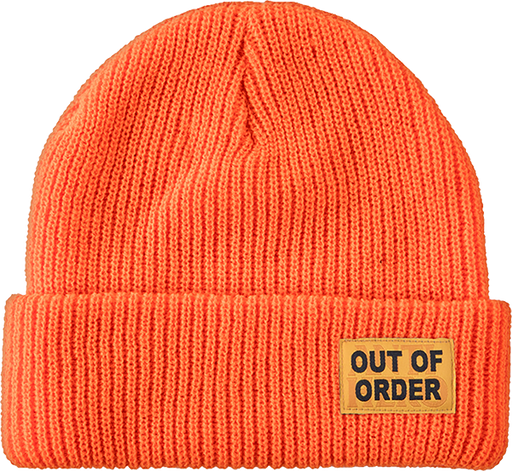 Ah Out Of Order Cuff Beanie Orange