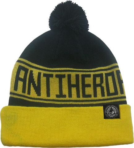 Ah Rule Haters Beanie Gold/Blk
