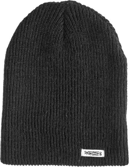 Bones Slip On Beanie Black