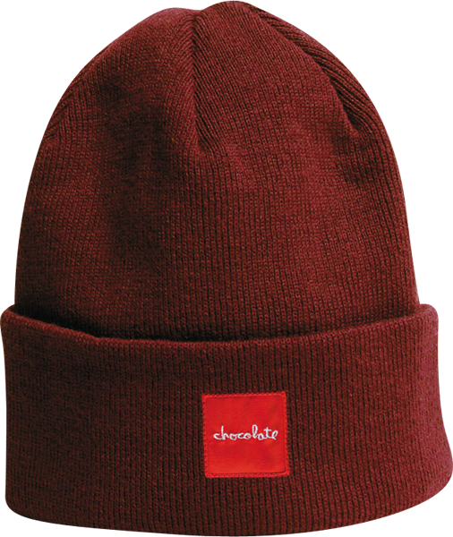 Choc Red Square Fold Beanie Rust