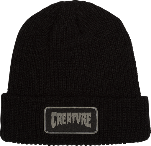 Creature Patch Beanie Black