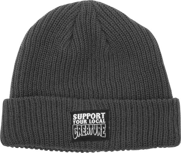 Creature Support Patch  Beanie Charcoal