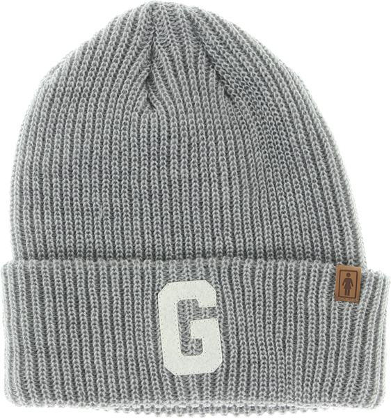 Girl Big G Beanie Heather Grey