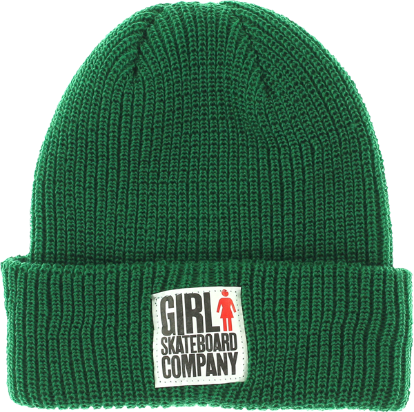 Girl Big Girl Fold Beanie Green