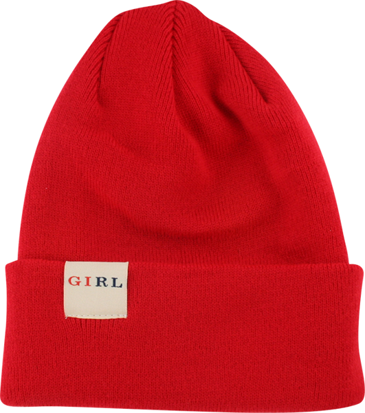 Girl Classic Folded Beanie Red