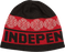 Inde Woven Crosses Beanie-Red/Blk/Wht