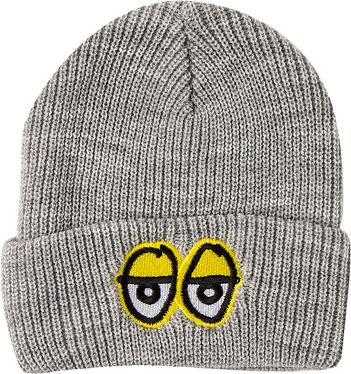 Krk Eyes Emblem Beanie Heather Grey/Yel
