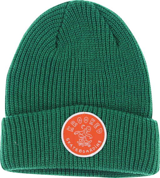 Krk Patch Cuff Beanie Hunter Green