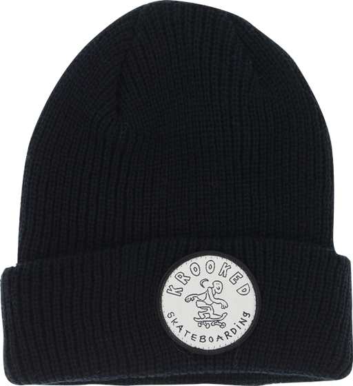 Krk Patch Cuff Beanie Black