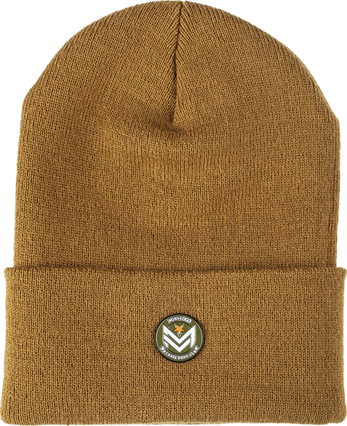 Mini Logo Chevron Pin Beanie Duck Brown