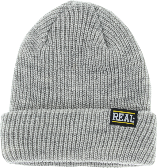 Real Bar Logo Beanie Heather Grey