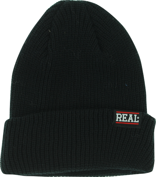 Real Bar Logo Beanie Black