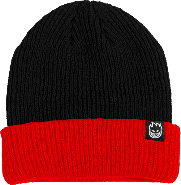 Sf Double Fire Beanie Blk/Red
