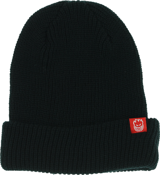 Sf Get Lit Ribbed Cuff Beanie Black