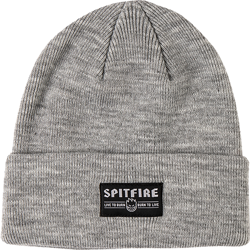 Sf Live To Burn Cuff Beanie Heather Grey/Blk