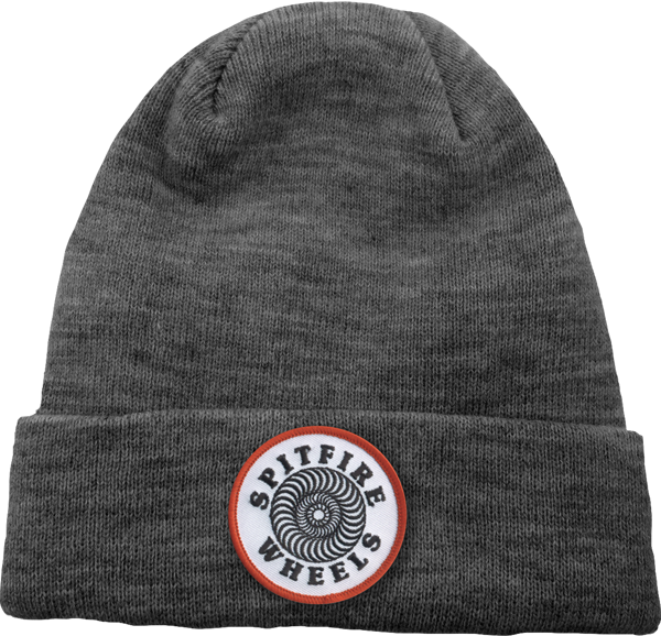 Sf Og Classic Patch Beanie Heather Grey