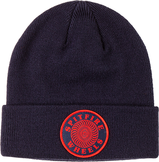Sf Og Classic Swirl Patch Beanie Navy/Red