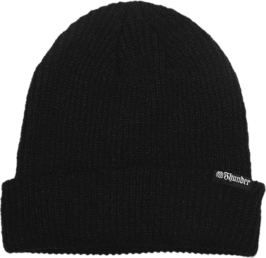 Thunder Basic Cuff Beanie Black