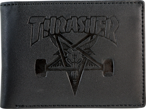 Thrasher Sk8 Goat Leather Wallet Black