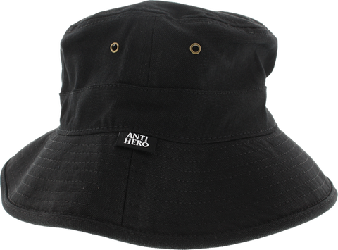 Ah Anti Hero Label Boonie Hat Black